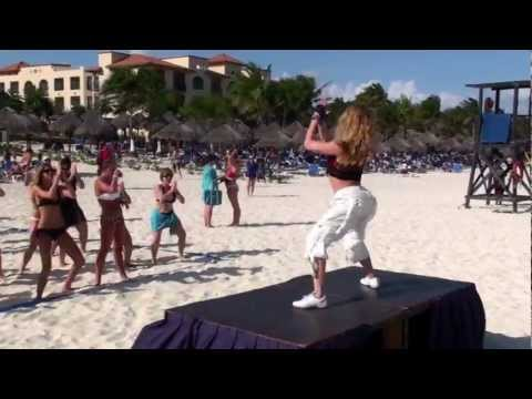 Zumba class with Yana Canada - Sandos Playacar Resort and Spa
