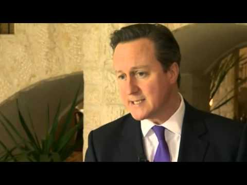 Cameron talks Israeli-Palestinian divide with Blair