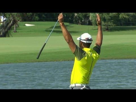 Tiger Woods makes incredible 91-foot birdie putt at Cadillac