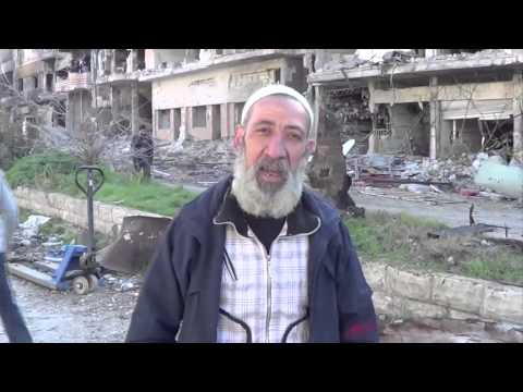 Evacuation of older civilians from areas in Homs, Syria.