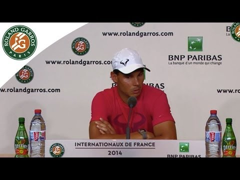 Press Conference Rafael Nadal 2014 French Open R1