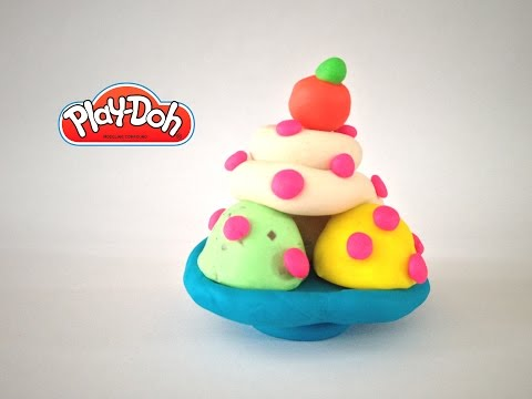 Play-Doh Ice Cream Sundae Maker Playdough Fazendo Sorvete de Massinha