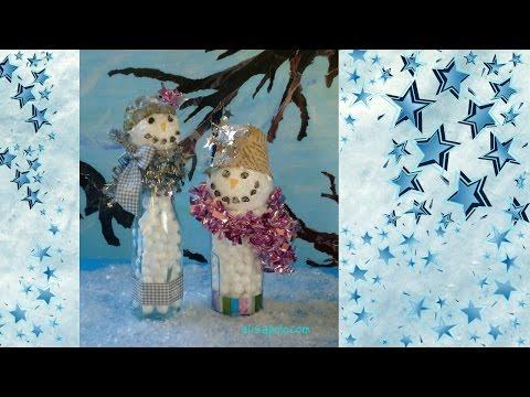 DIY, Manualidades para Navidad, Cómo hacer un Muñeco de Nieve Vintage, Snowman Crafts
