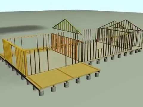 Proceso de construccion casas madera antuco youtube for Construccion casas