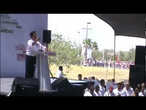 Abandonan a Peña Nieto en Reynosa, Tamaulipas