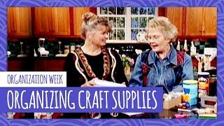 Organizing Craft Supplies With Carol Duvall HGTV