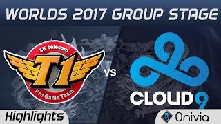 SKT vs C9 Highlights World Championship 2017 Group Stage SK Telecom T1 vs Cloud9 by Onivia