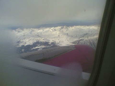 Beautiful view of snow clad Himalayas while landing at Srinagar!