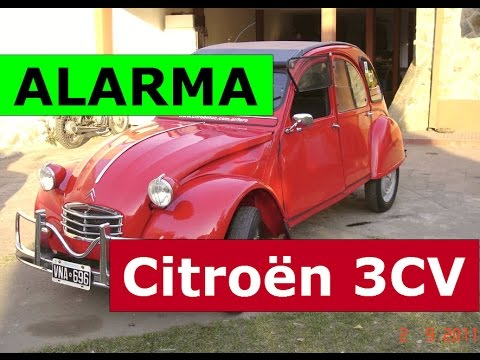 Alarma X-28 + accesorios - Demostración en Citroen 3CV - 2CV