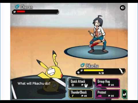 Game pokemon - Pikachu chiến đấu