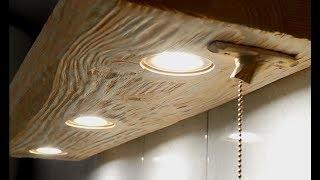 LED lit bathroom shelf