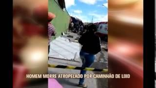 Pedreiro morre atropelado por caminh�o de lixo em Sete Lagoas