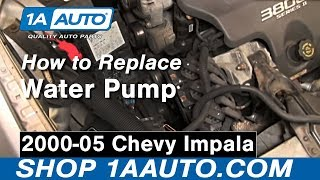 How To Install Replace Water Pump 00-05 Chevy Impala 3800