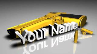 C4D: Gold Desert Eagle Intro *FREE TEMPLATE*