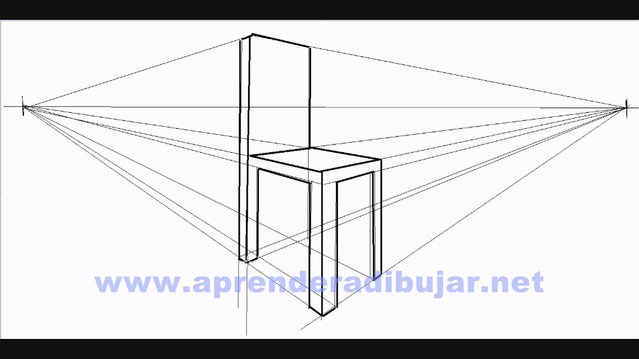 How To Draw A Chair In Perspective Things To Draw Youtube