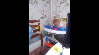 [Best Funny Videos 2014 - Funny baby a little king falls asleep] Video