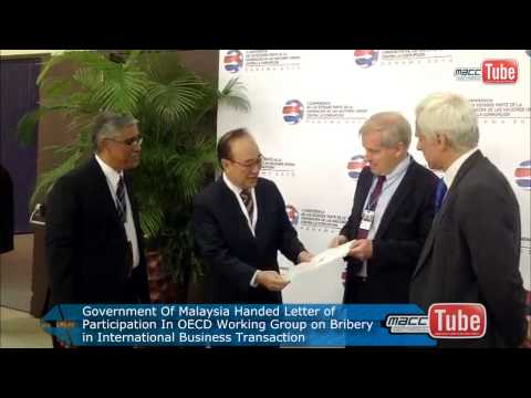 Malaysia Joined OECD Working Group on Bribery in International Business Transaction