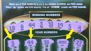 "BIG WIN!! $30 ""EXTREME GREEN"" LOTTERY TICKET SCRATCH OFF!!"