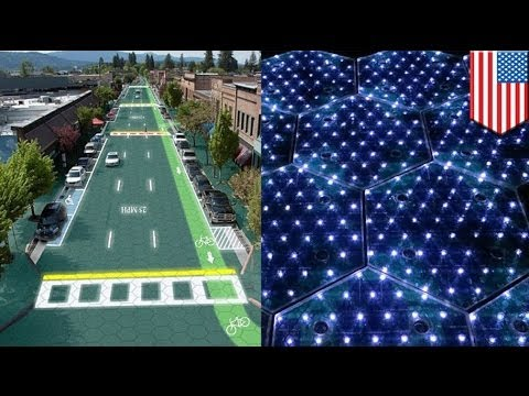 Solar power roads: tech charge electric cars while on the road