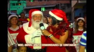 Kayete vai atr�s da carreta do Papai Noel em Contagem