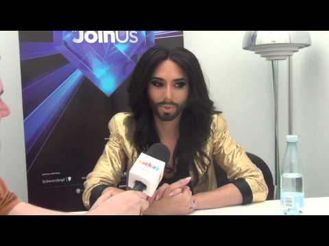 ESCKAZ in Copenhagen: Conchita Wurst (Austria) interview