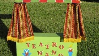 Teatro De Marionetas Casero Con Cartoones