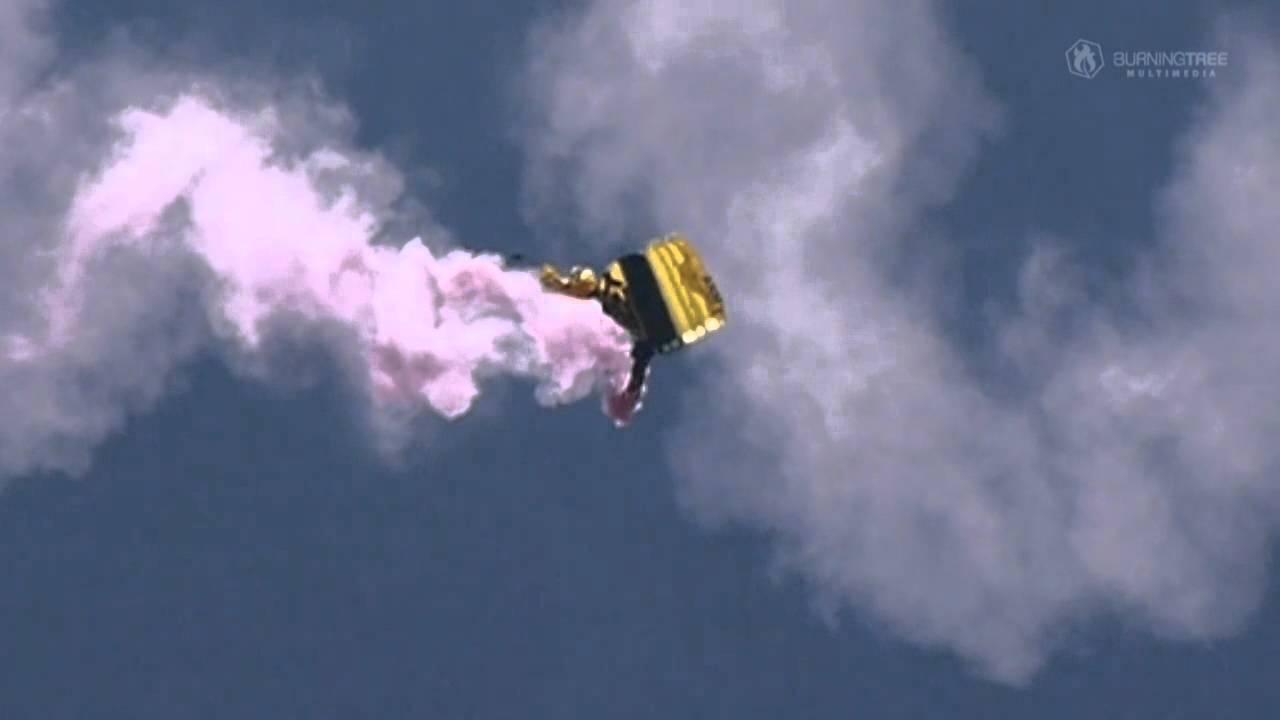 Ouverture d'un parachute de secours
