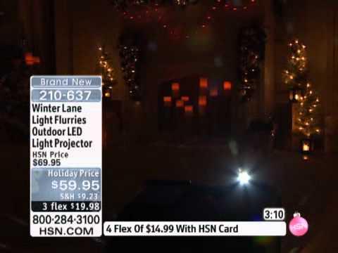 winter lane light flurries outdoor led light projector youtube. Black Bedroom Furniture Sets. Home Design Ideas