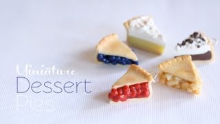 Mini Pies Polymer Clay Dessert Tutorial