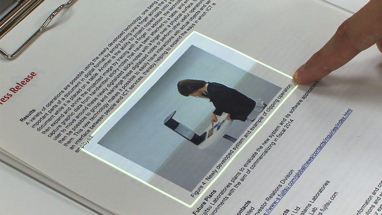 Fujitsu buat Teknologi yang mengubah Kertas Menjadi Touchscreen, Seperti smartphone dan tablet, kertas pun bisa menjadi media layar sentuh. Teknologi terbaru yang dikembangkan Fujitsu, memungkinkan jari-jari si pengguna menari di atas kertas