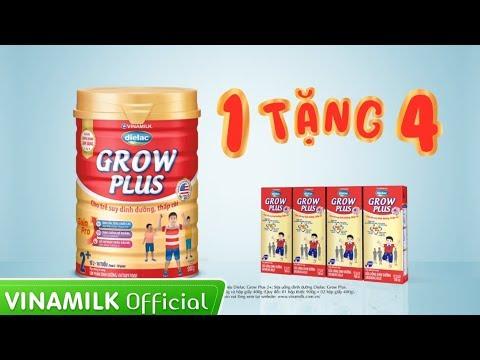 Quảng cáo Vinamilk - Dielac Grow Plus - Mua 1 tặng 4 Sữa bột pha sẵn (35s)