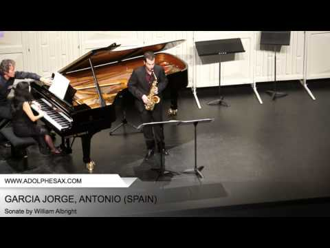 Dinant 2014 - Garcia Jorge, Antonio - Sonate by William Albright
