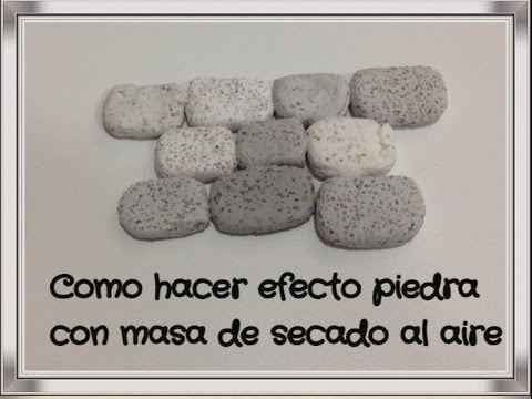Como hacer efecto piedra en massa /effect mass air drying