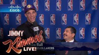 Jimmy Kimmel Talks to LA Lakers #2 NBA Draft Pick Lonzo Ball