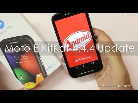 Moto E Dual SIM Android KitKat 4.4.4 Software Update