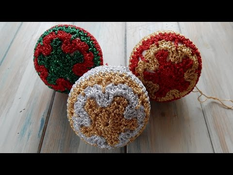 How to Crochet Christmas Baubles