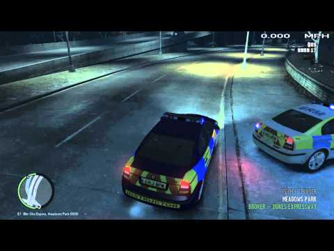 GTA IV | Official London Metropolitan Police Clan | Blue Lights Run | Car Accident | SP