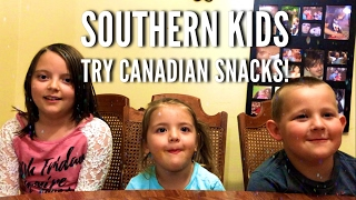 Southern kids try Canadian snacks!!