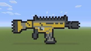 Videó Minecraft Pixel Art Fortnite Legendary Scar Etvplayvideos