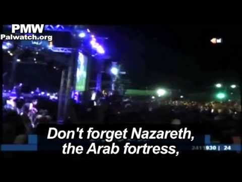 "Abbas embraces singer after song calling cities in Israel ""Palestine"""