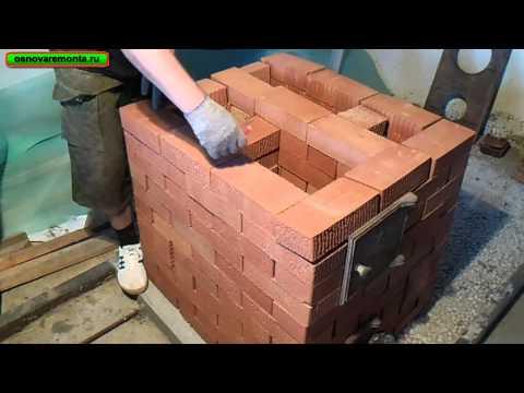 Подробная кладка печи 3х3,5 кирпича за 9 тыс. руб.