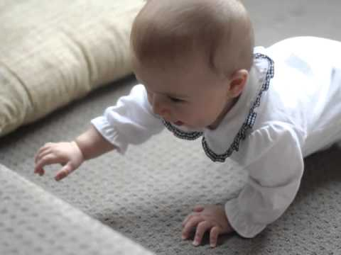 Crawling and trying to conquer the stair
