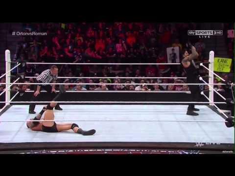 Roman Reigns vs Randy Orton Raw 4/5/2015 Full Match