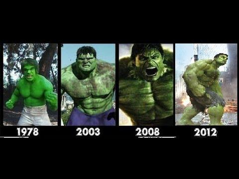 Hulk transformation Movies -1978-2003-2008-2012- [hulk transformation]- Compilation
