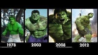 Hulk Transformation Movies1978-2003-2008-2012- [hulk