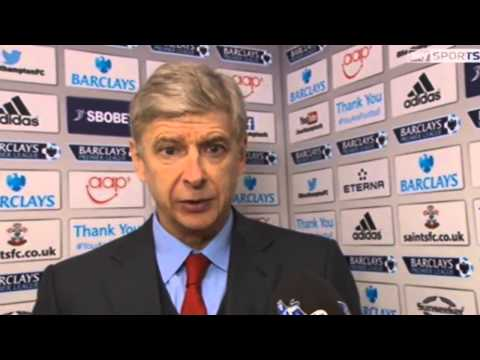 Southampton 2 Arsenal 2 : Arsene Wenger Post Match Reaction