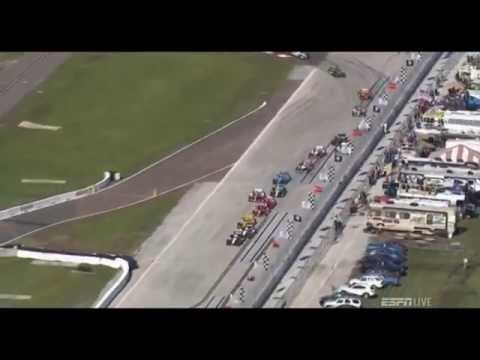 Restart Crash @ 2014 Indy Car St. Petersburg