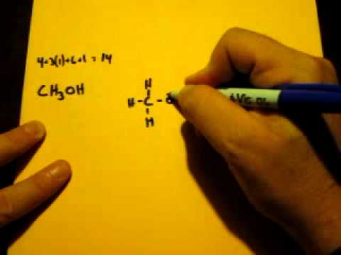 Lewis Dot Structure Of Ch3oh Methanol Youtube