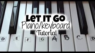 Let It Go (Frozen) Keyboard Tutorial (Right Hand With