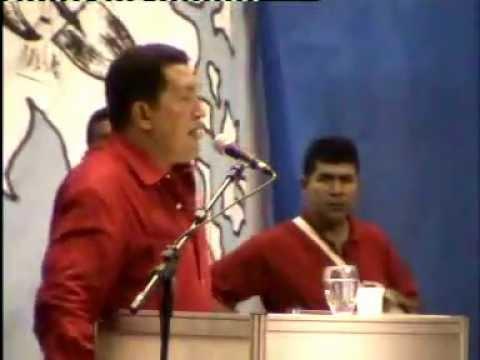 30 Ene 2005 Hugo Chávez en Porto Alegre en clausura del V Foro Social Mundial